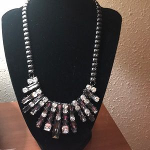 Jewelry - Statement necklace rhinestone and ???